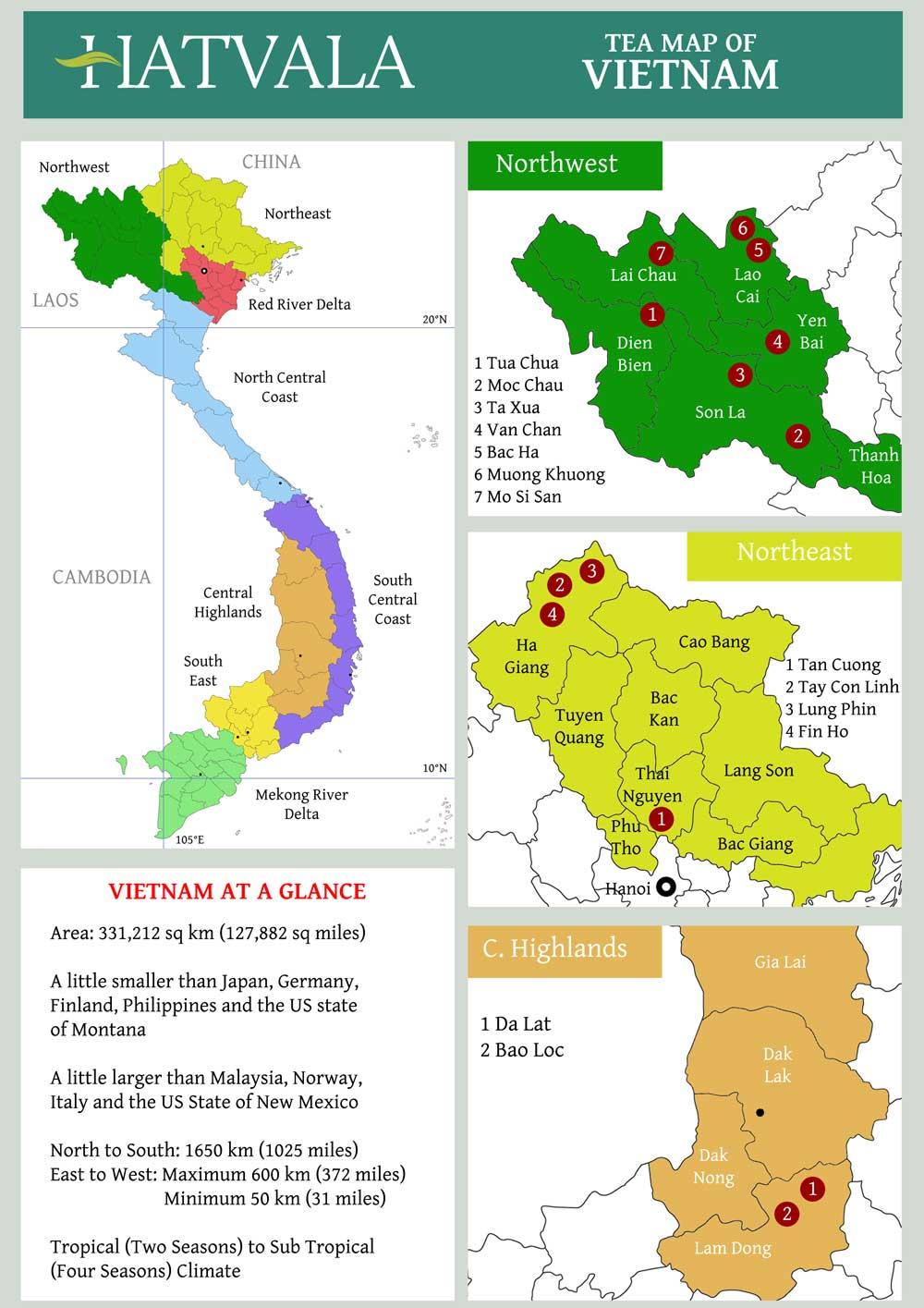 Vietnam Tea Map