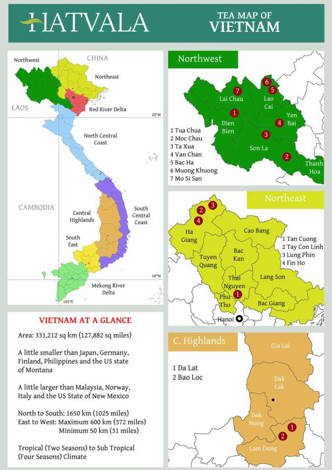 Vietnam Tea Map